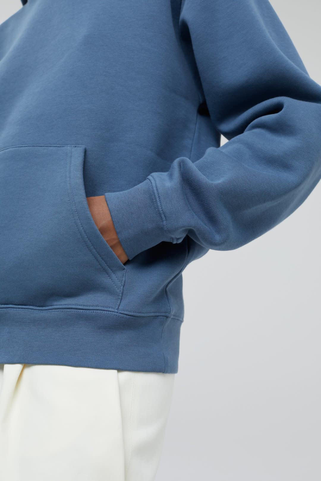 Hoodie closed Blue Slate-3
