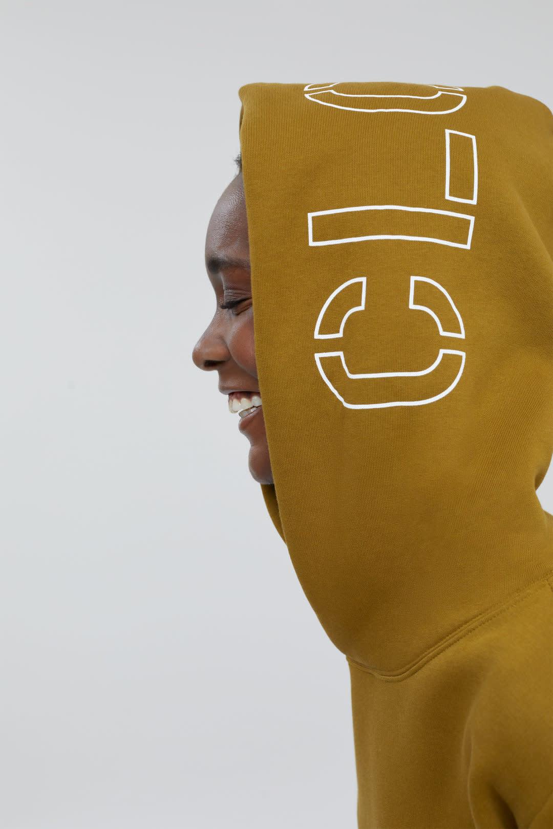 Hoodie closed Golden Brown-5
