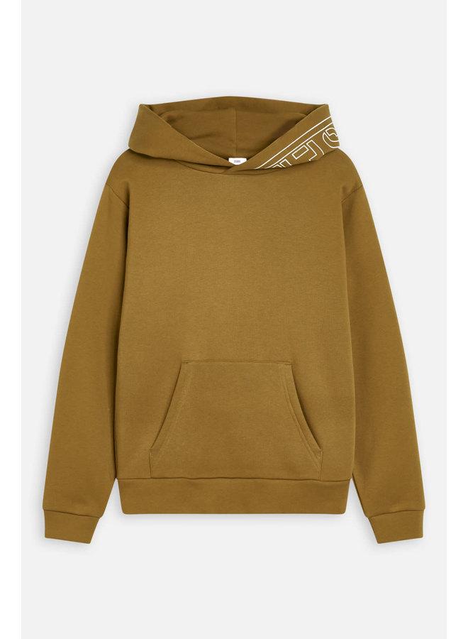 Hoodie closed Golden Brown