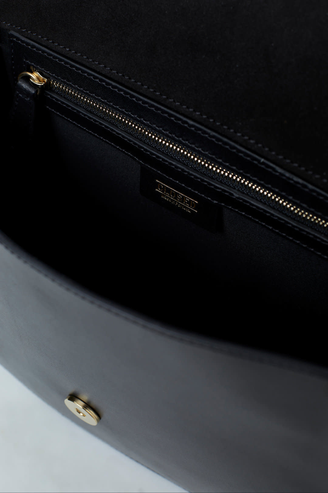 Ally M bag Black leather incl strap-2