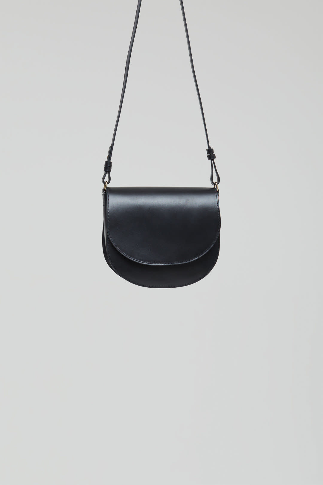 Ally M bag Black leather incl strap-4
