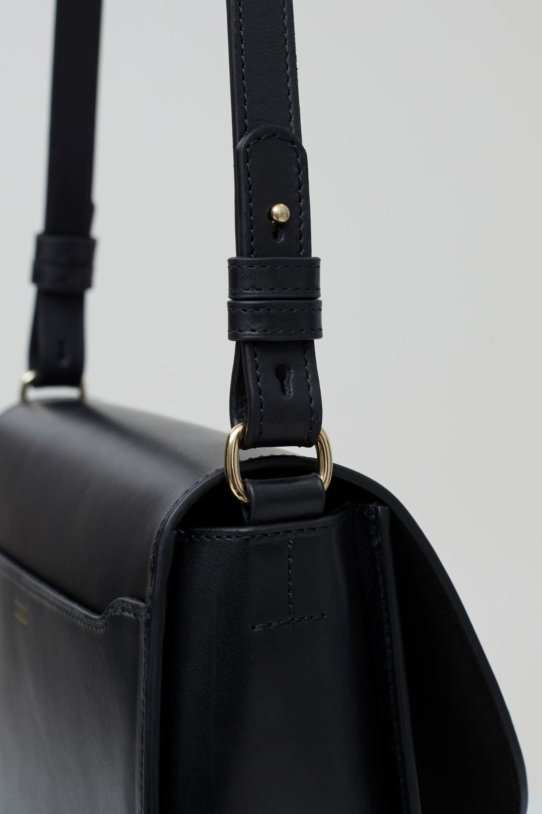 Ally M bag Black leather incl strap-5