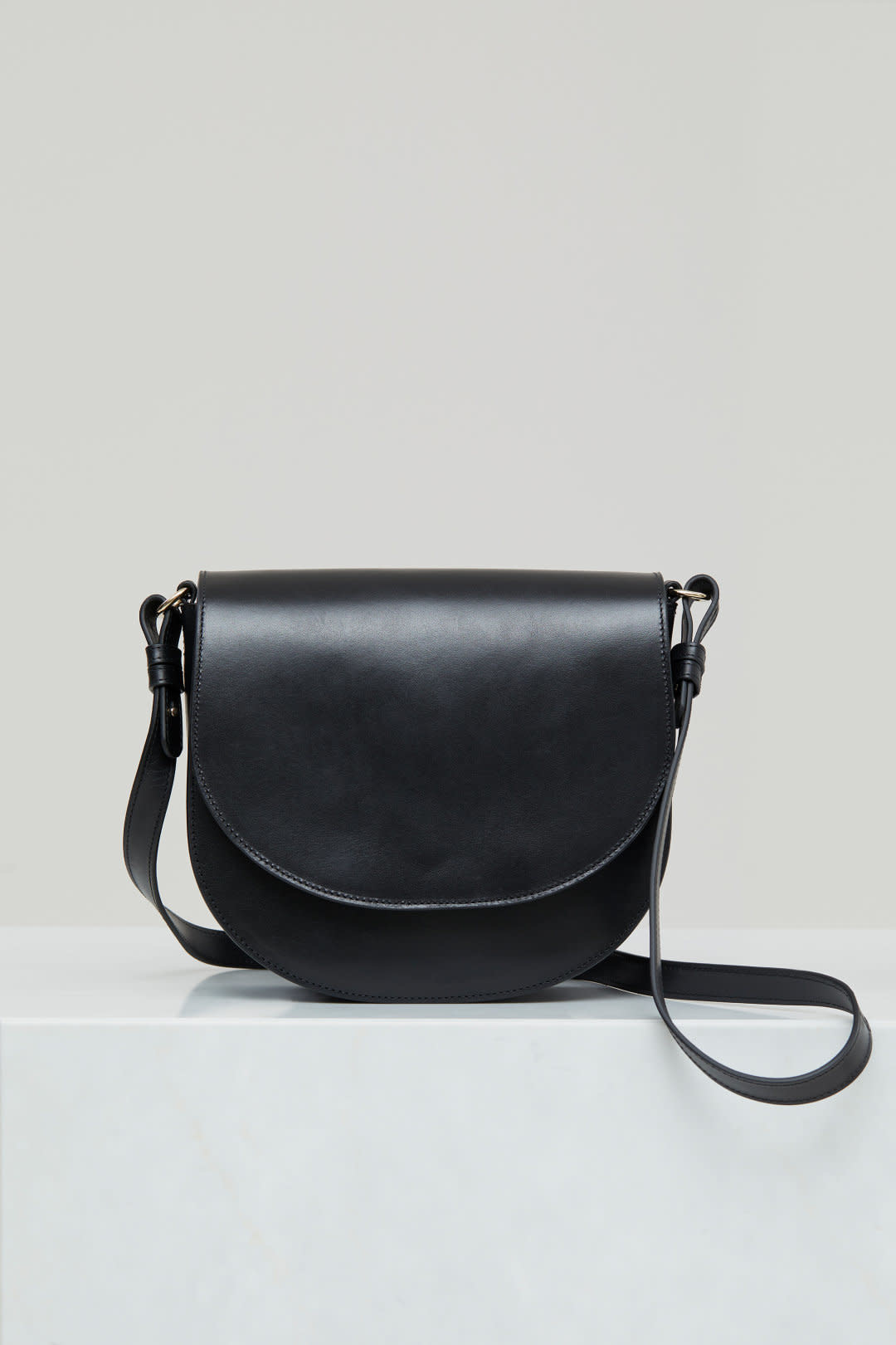 Ally M bag Black leather incl strap-8