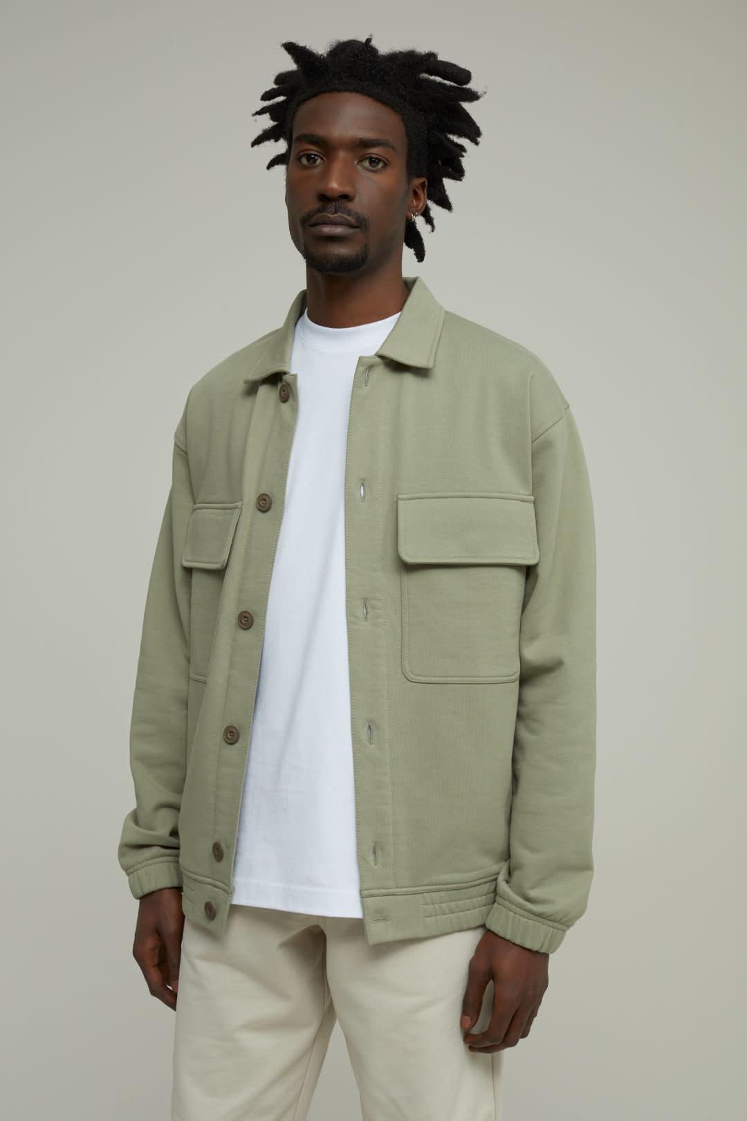 sweat jacket Pale Khaki-2