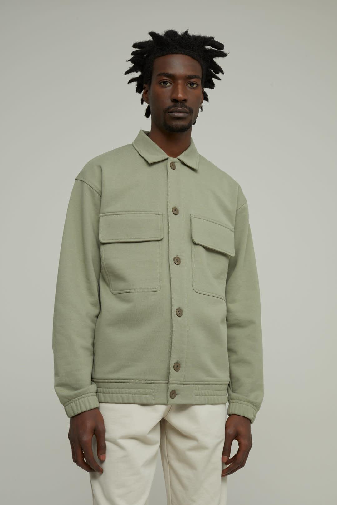 sweat jacket Pale Khaki-5