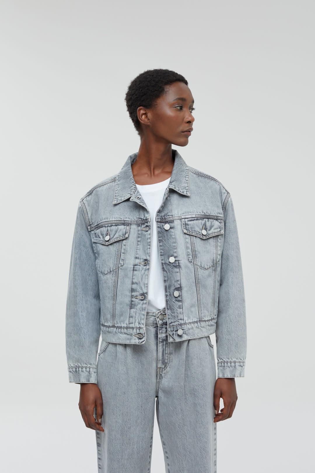 Elin Grey denim Jacket-2