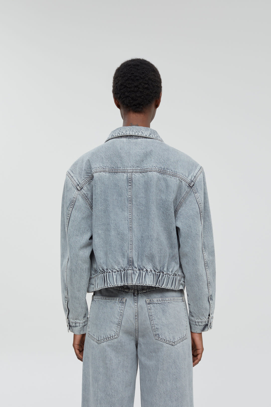 Elin Grey denim Jacket-3