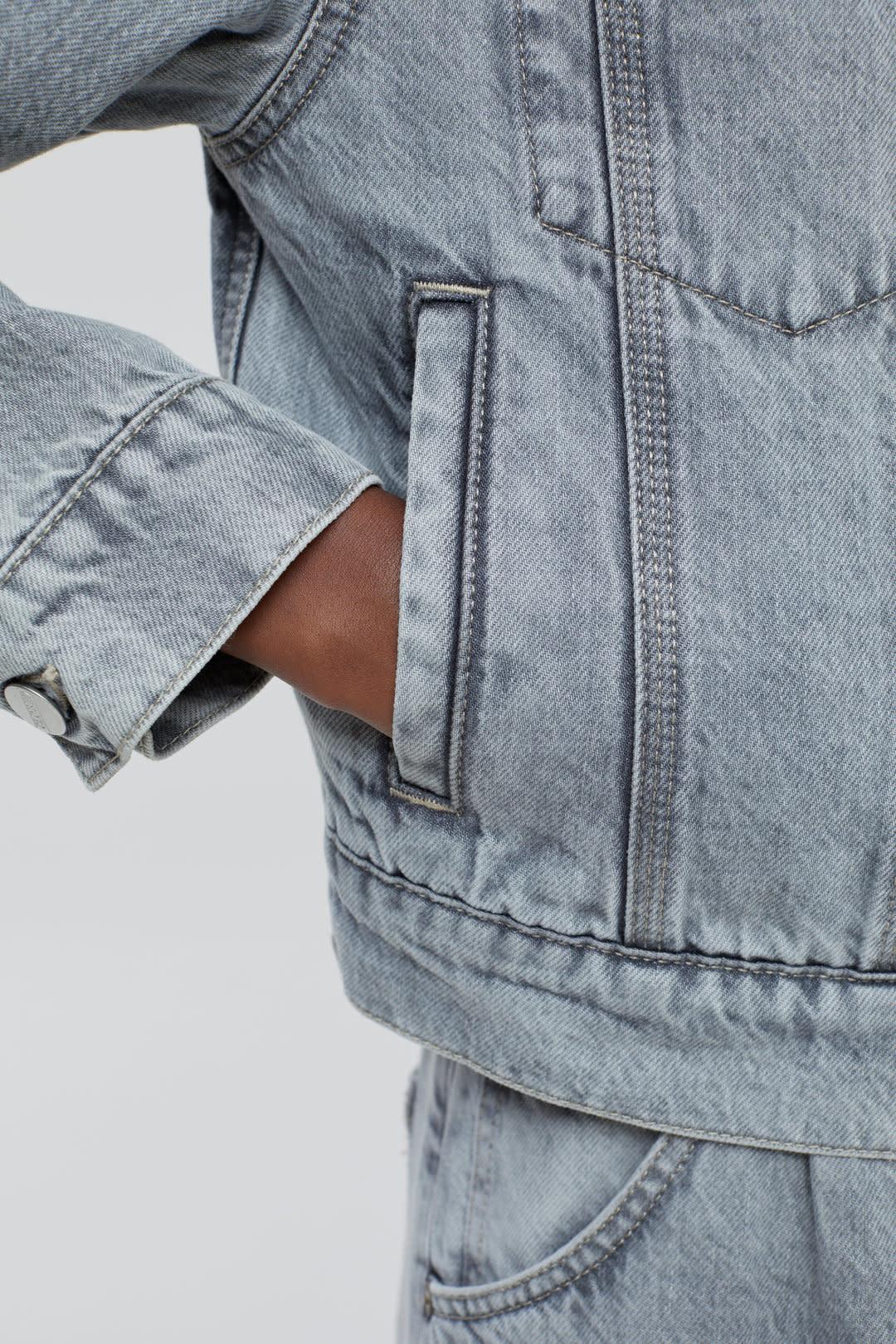 Elin Grey denim Jacket-6