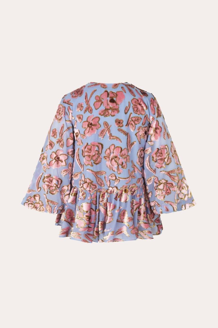 Palmer floral chiffon blouse-1