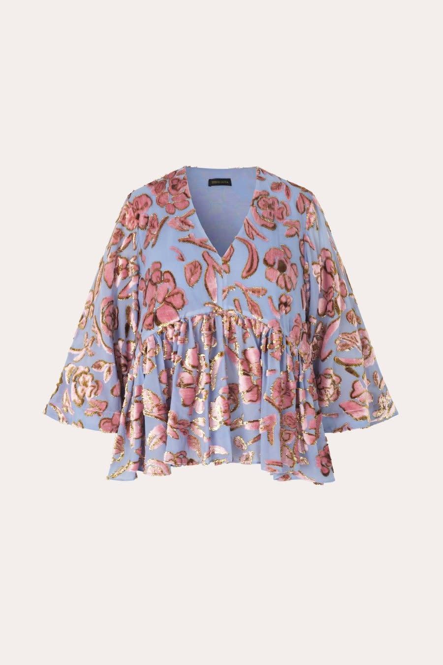 Palmer floral chiffon blouse-2