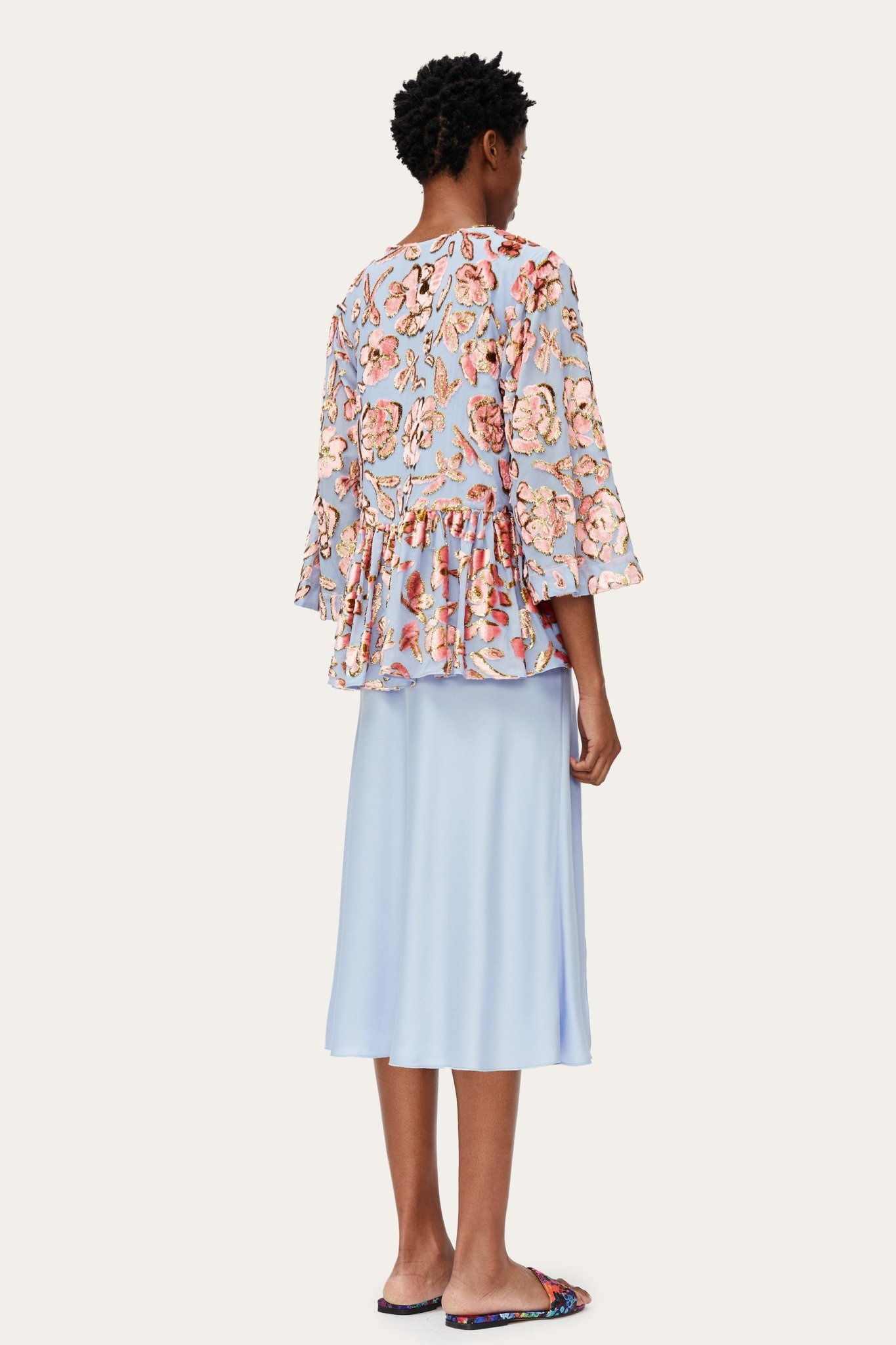 Palmer floral chiffon blouse-3