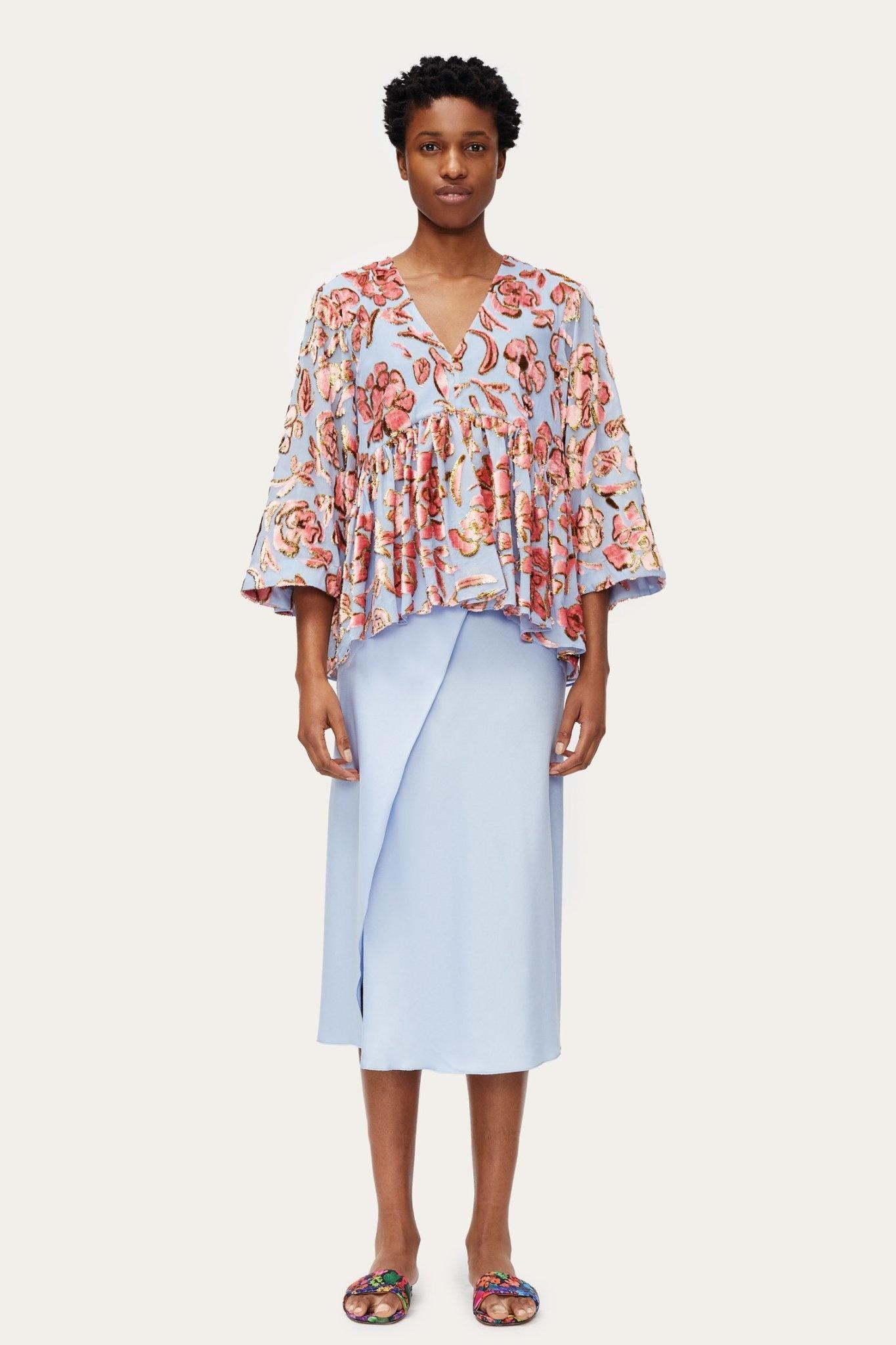 Palmer floral chiffon blouse-4