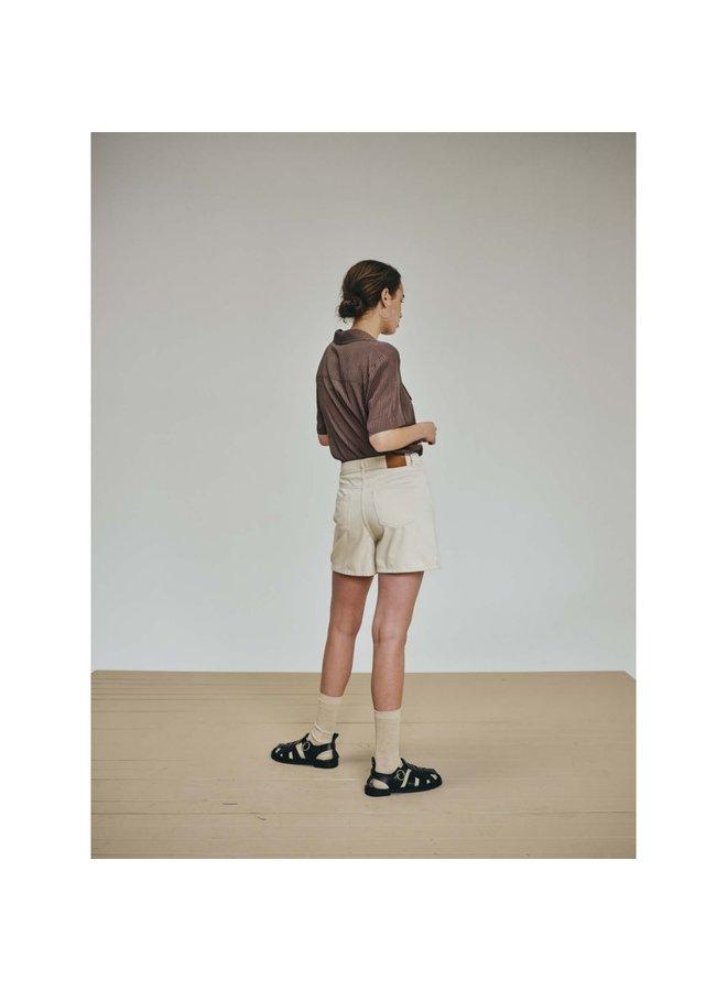 Nolan ecru denim shorts