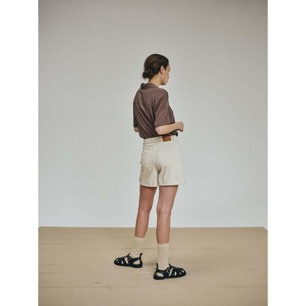 Nolan ecru denim shorts-2