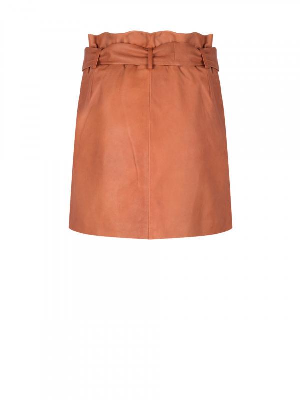 leith leather skirt pumpkin latte-2