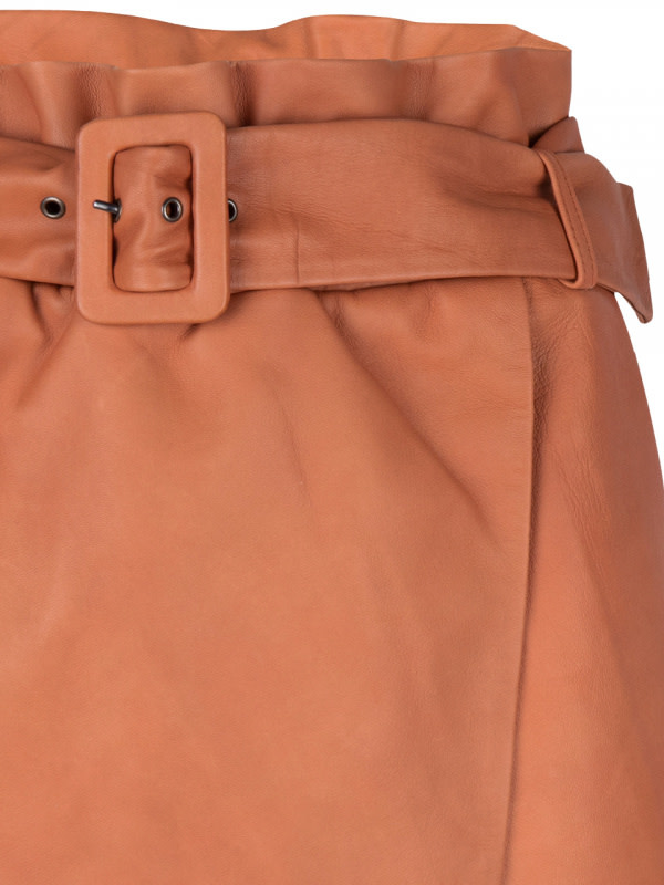 leith leather skirt pumpkin latte-4