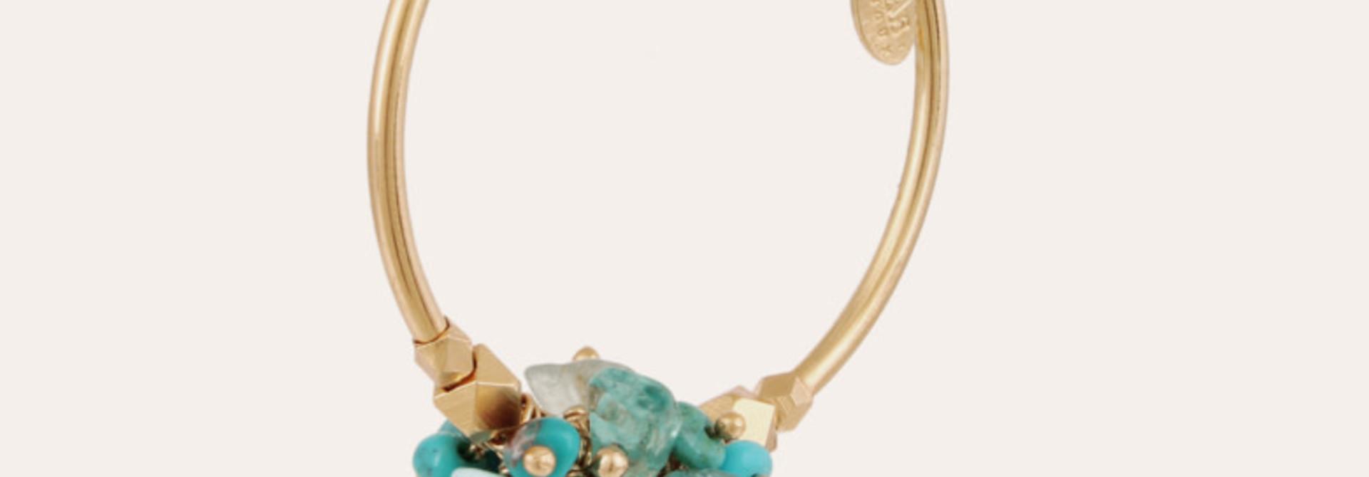 Gaudia  earrings green