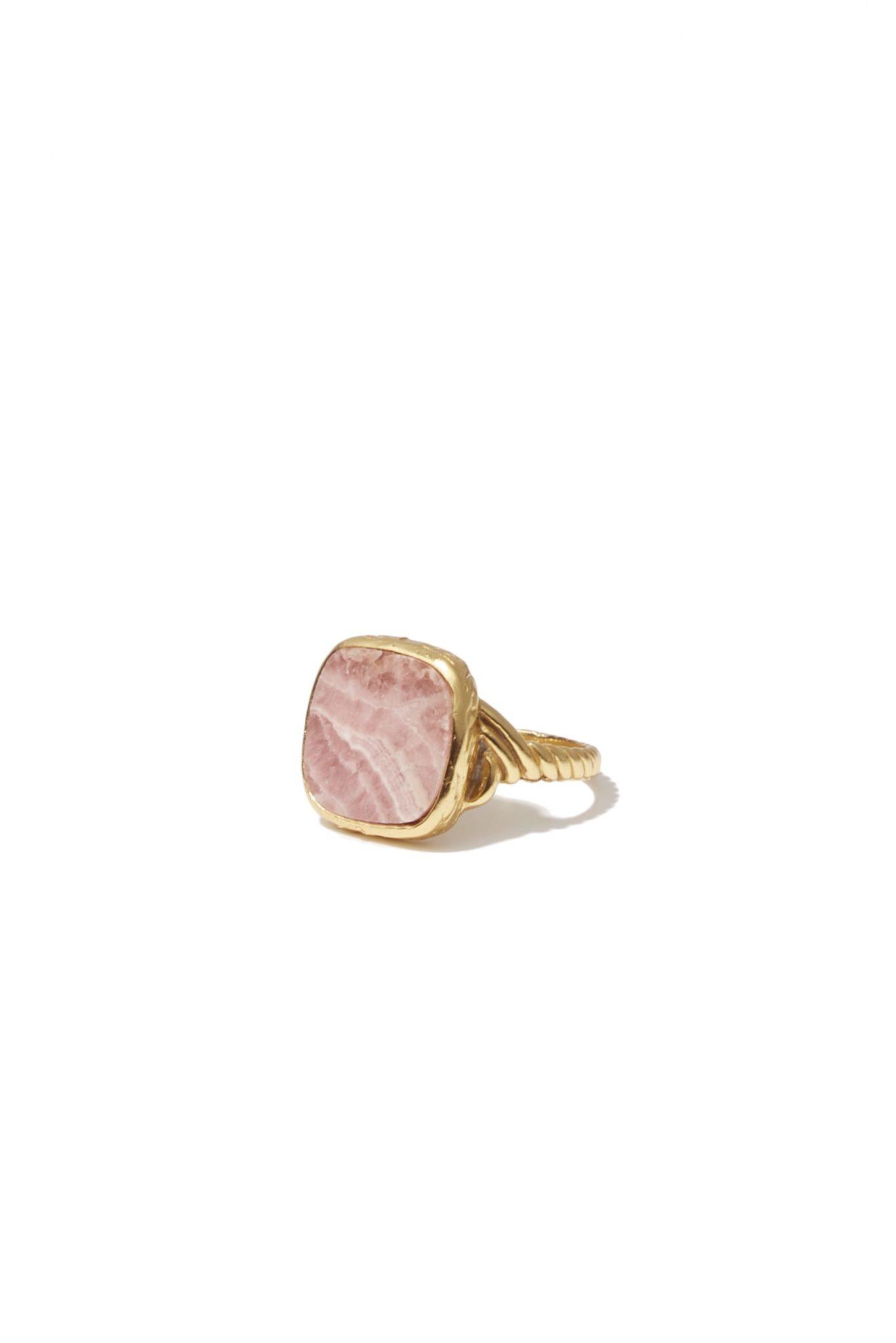 Delphine roze  Ring Gold-1