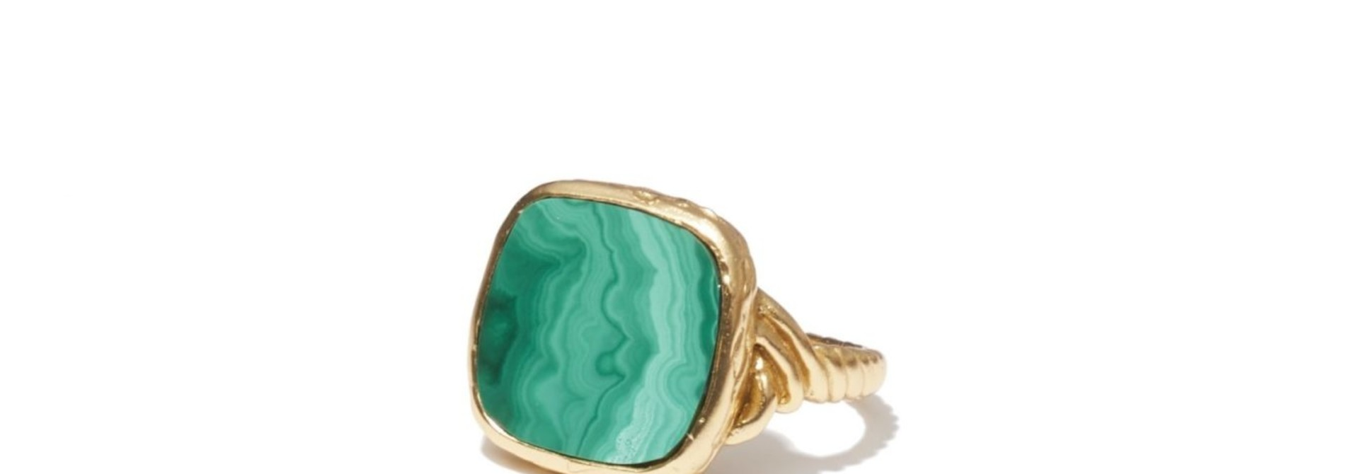Delphine green  Ring Gold
