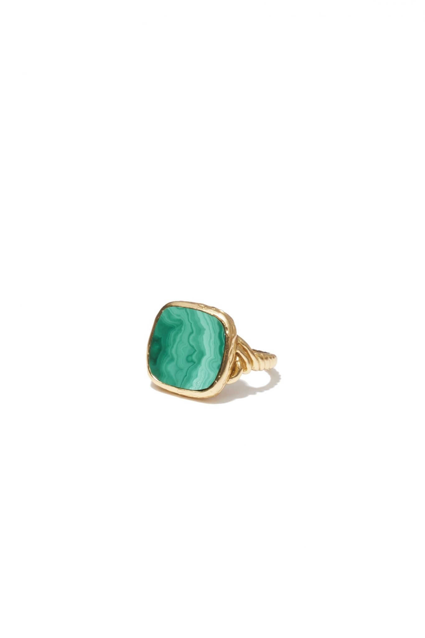 Delphine green  Ring Gold-1