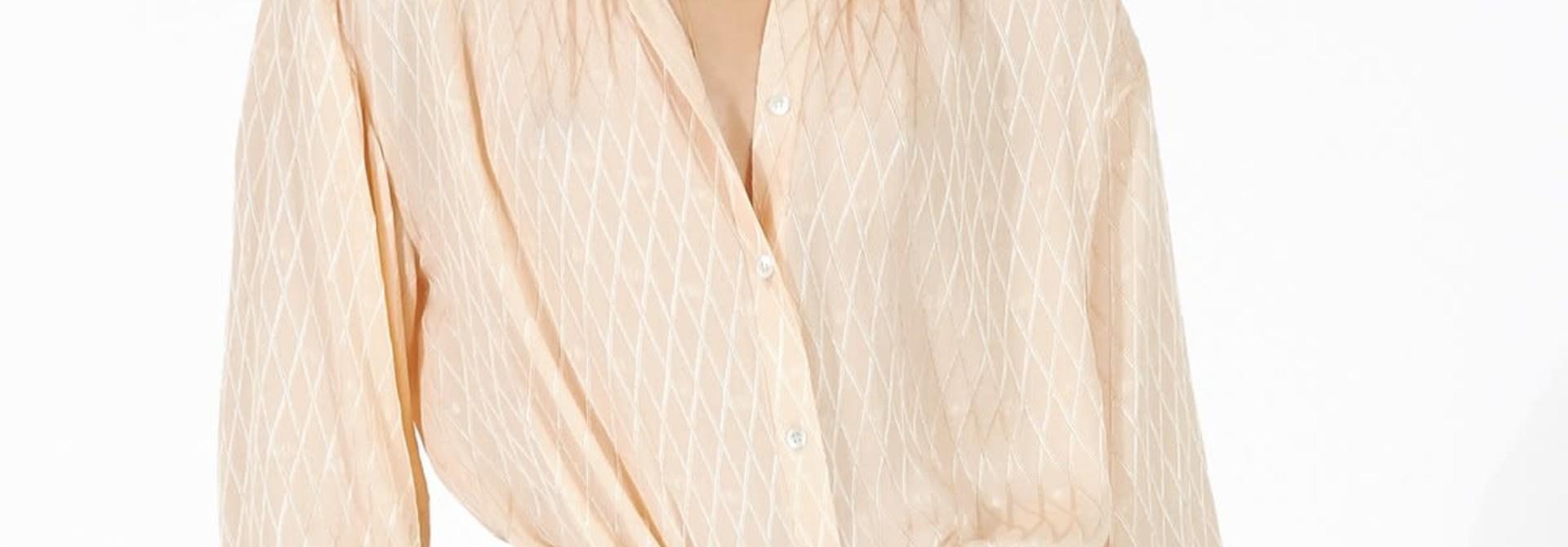 Lorna peach blouse