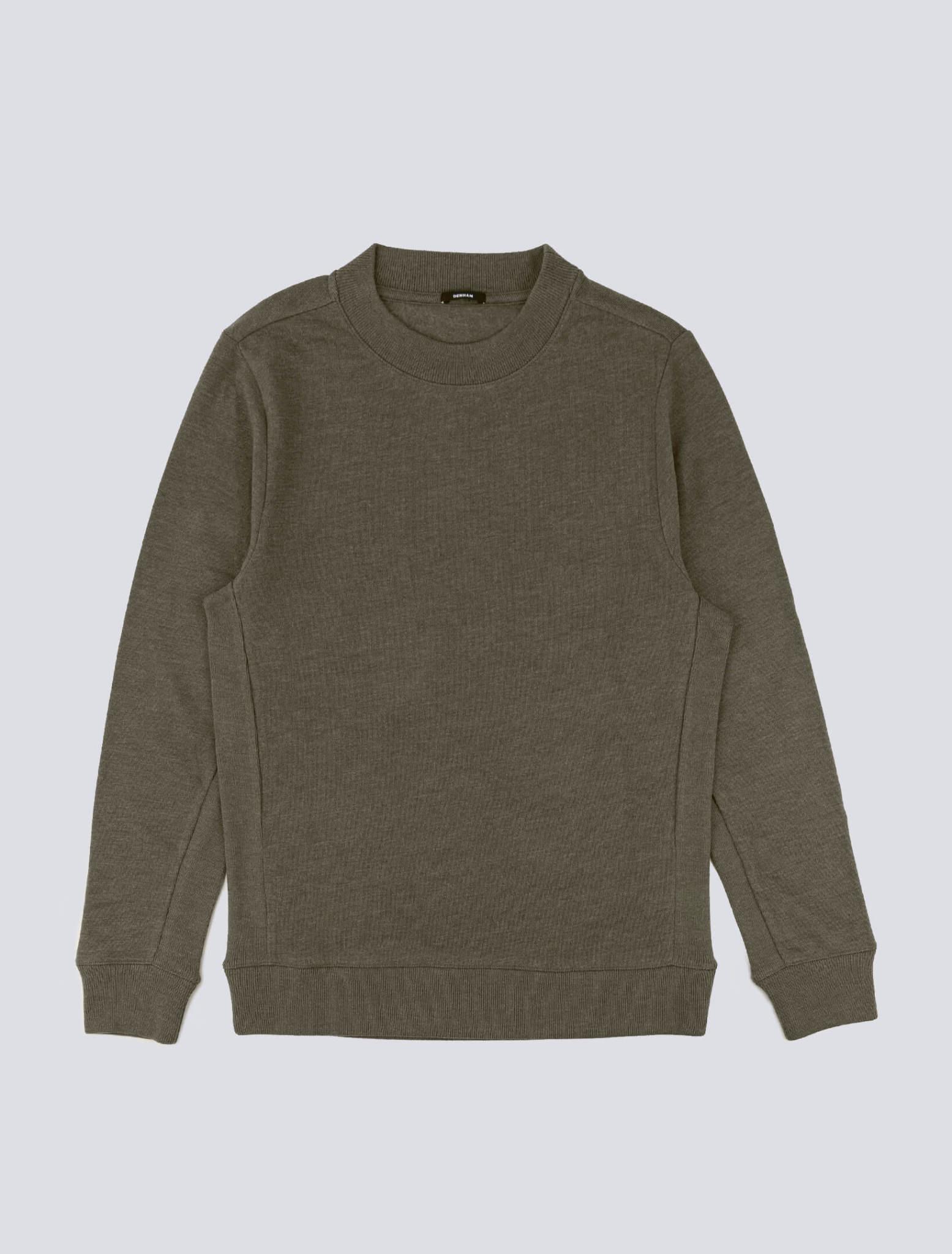 Roger crewneck Sweater rosin green-1