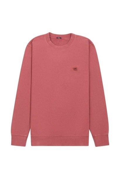 Applique Sweater marsala red