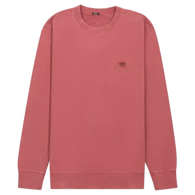 Applique Sweater marsala red-1