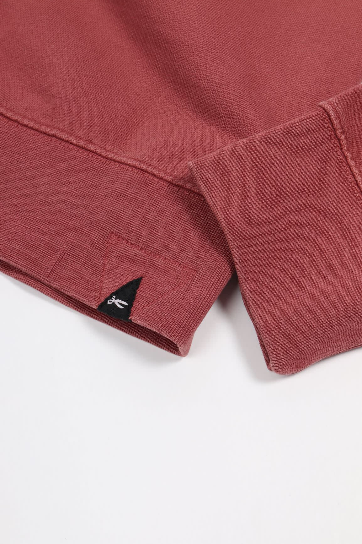 Applique Sweater marsala red-2