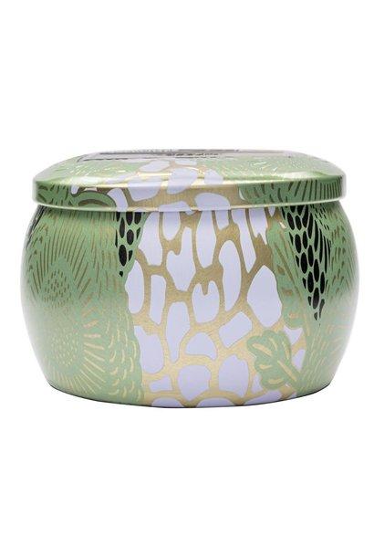 White Cyprus Mini Decorative Tin Candle