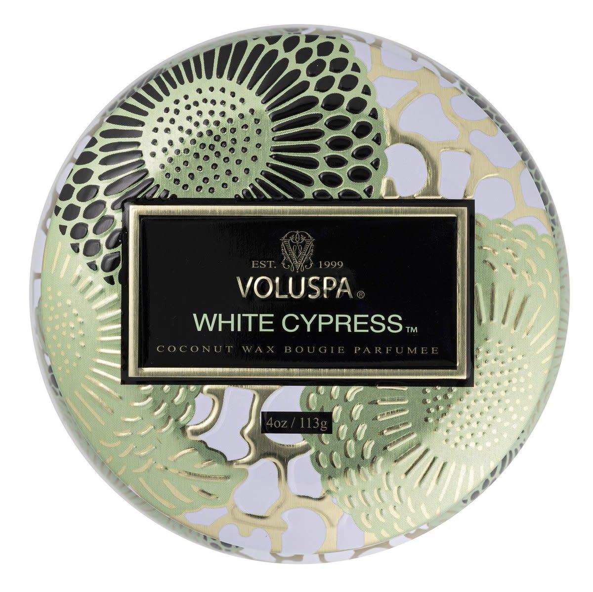 White Cyprus Mini Decorative Tin Candle-3