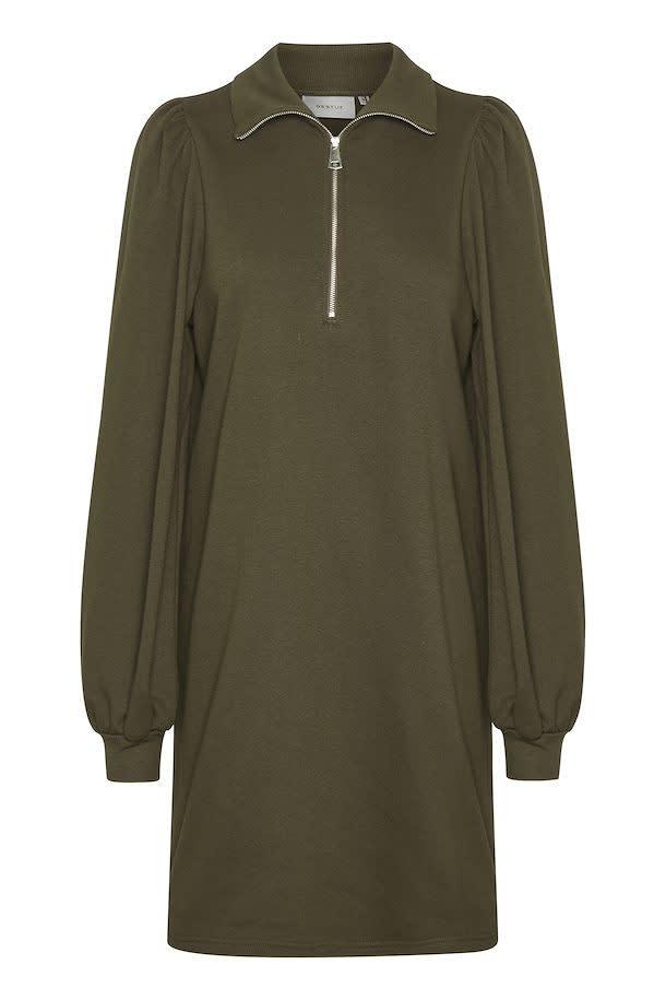 Nankita zipper dress forest-5