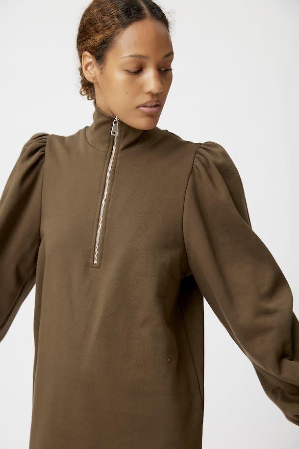 Nankita zipper dress forest-3