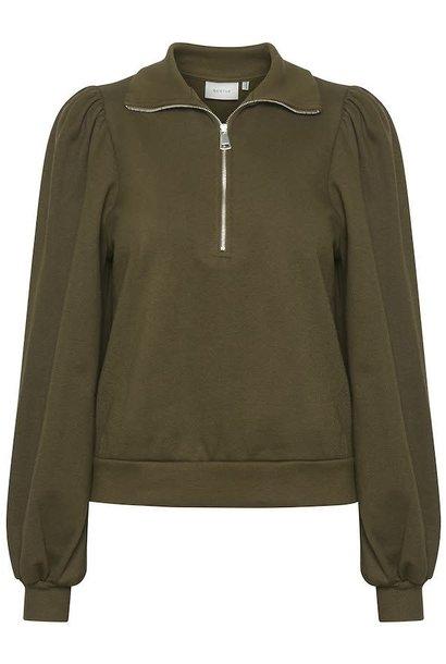 Nankita zipper Sweatshirt forest