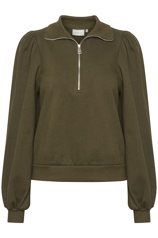 Nankita zipper Sweatshirt forest-1