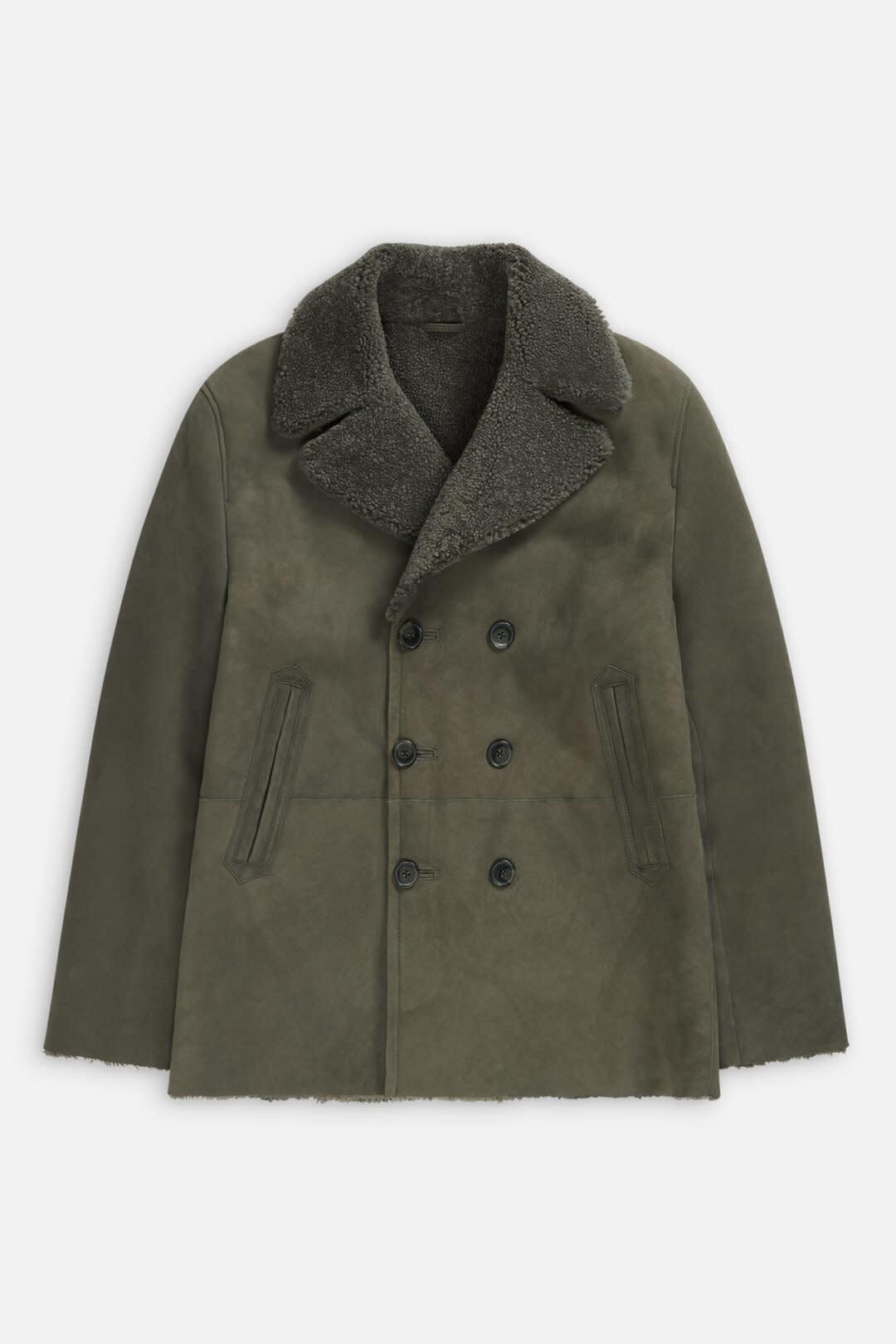 Shearling Jacket Muddy beige-1