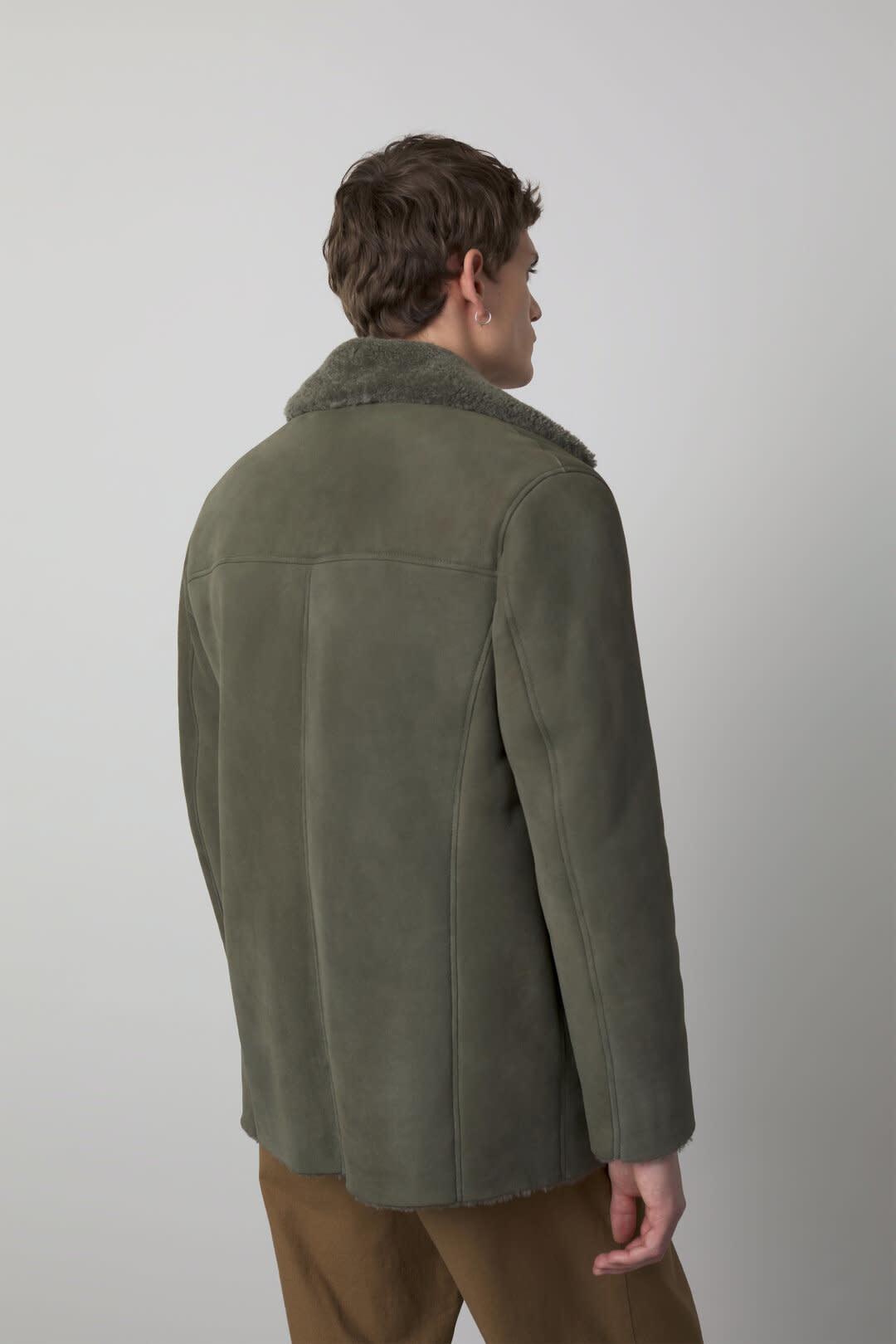 Shearling Jacket Muddy beige-3