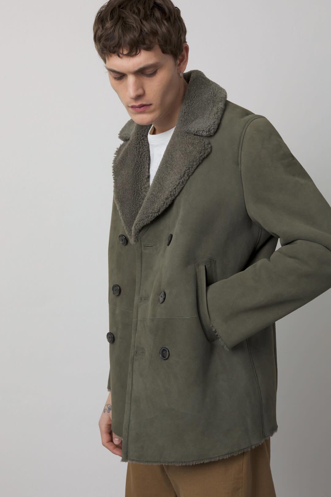 Shearling Jacket Muddy beige-2