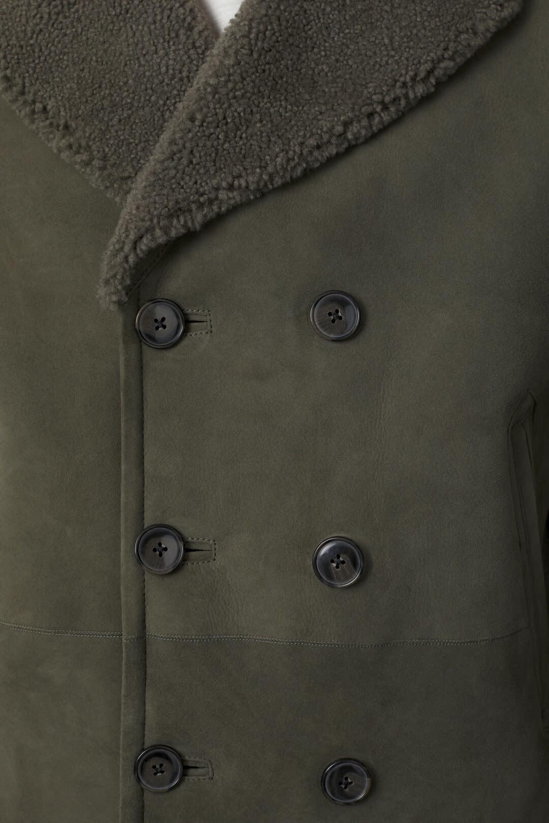 Shearling Jacket Muddy beige-5