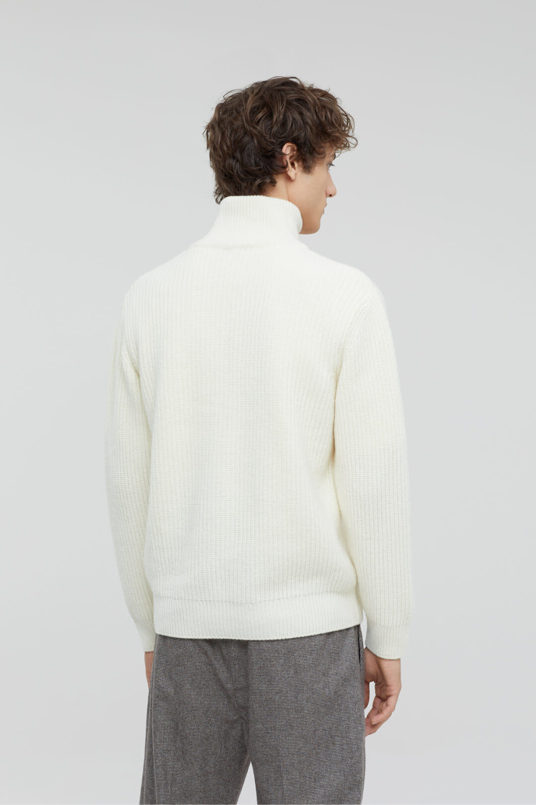 Zipped jumper ecru-2