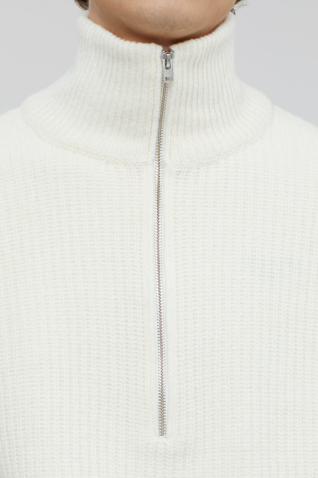 Zipped jumper ecru-3