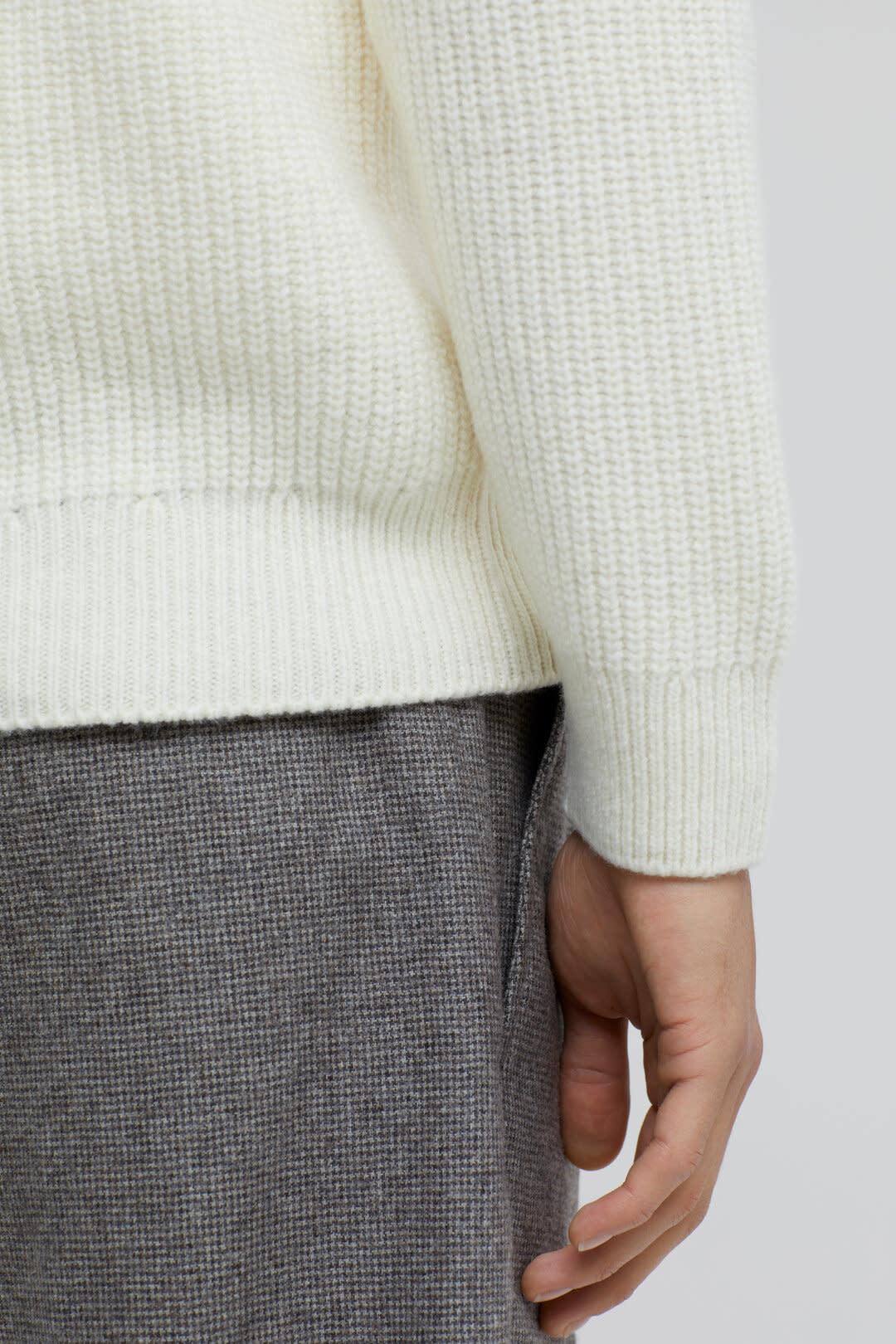 Zipped jumper ecru-4