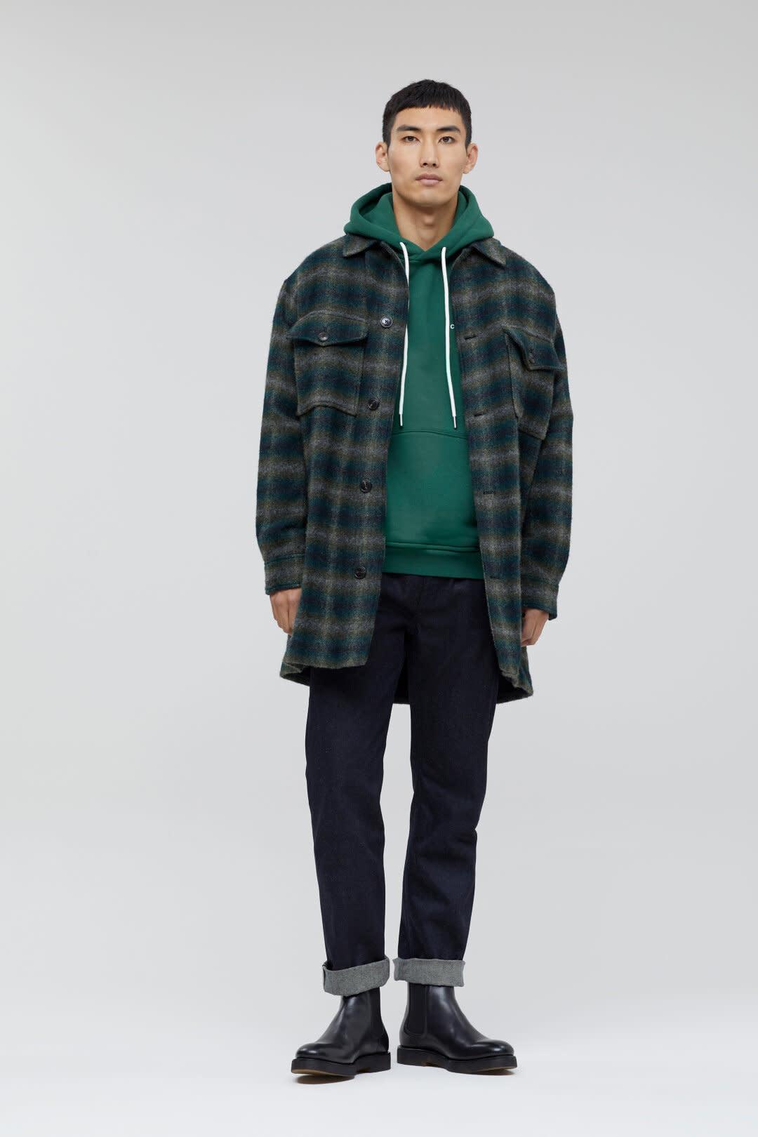 Hoodie fir green-5