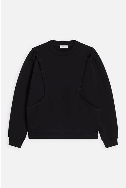 sweater fringe black