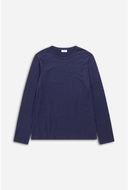 Cotton cashmere longsleeve dark night