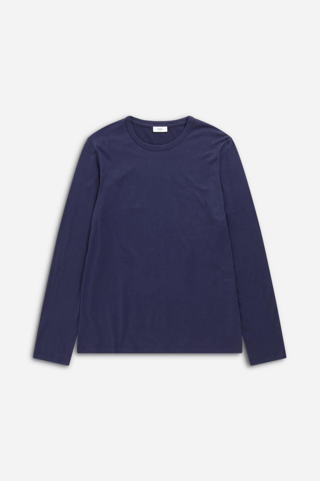 Cotton cashmere longsleeve dark night-1
