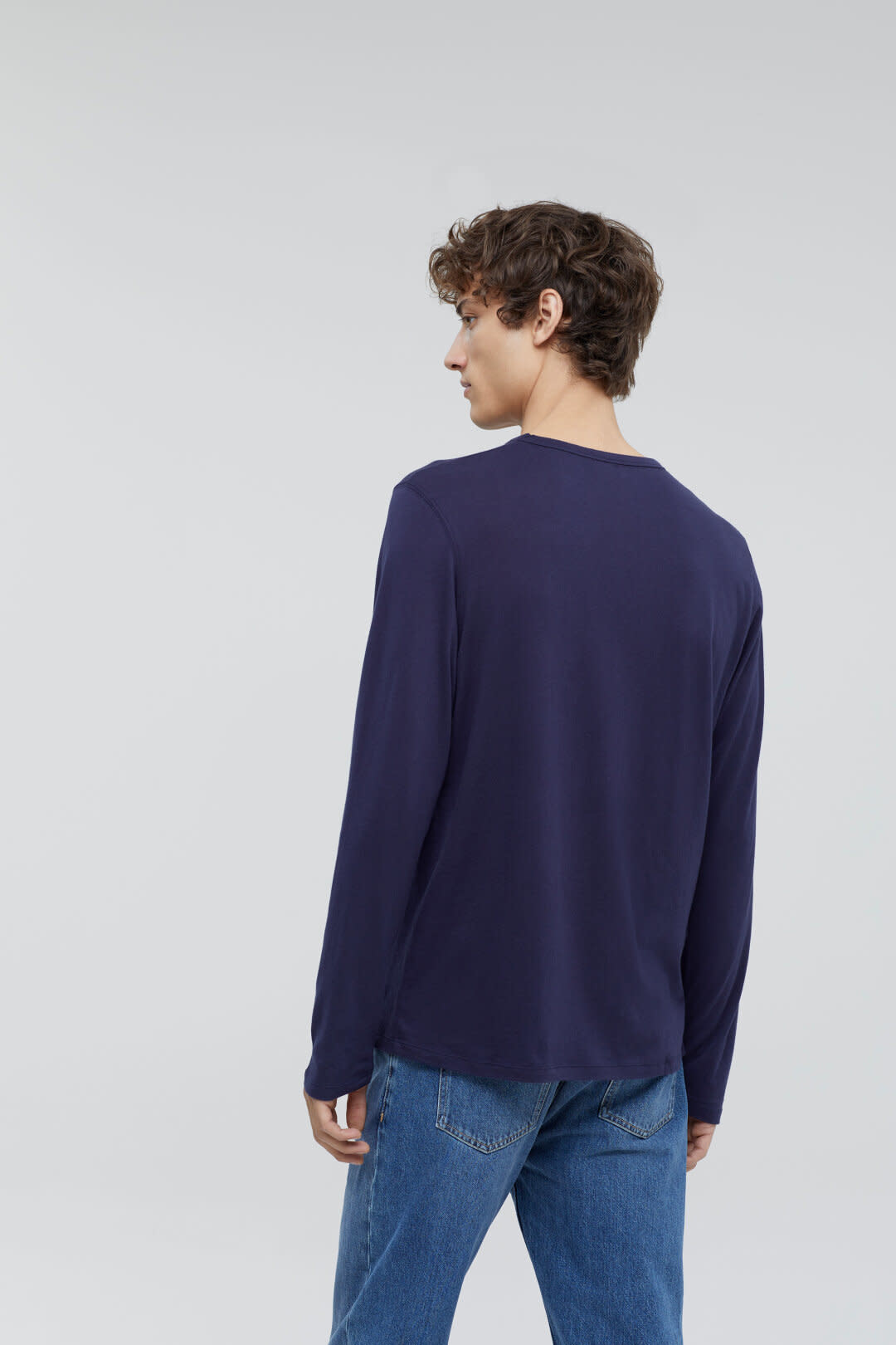 Cotton cashmere longsleeve dark night-2