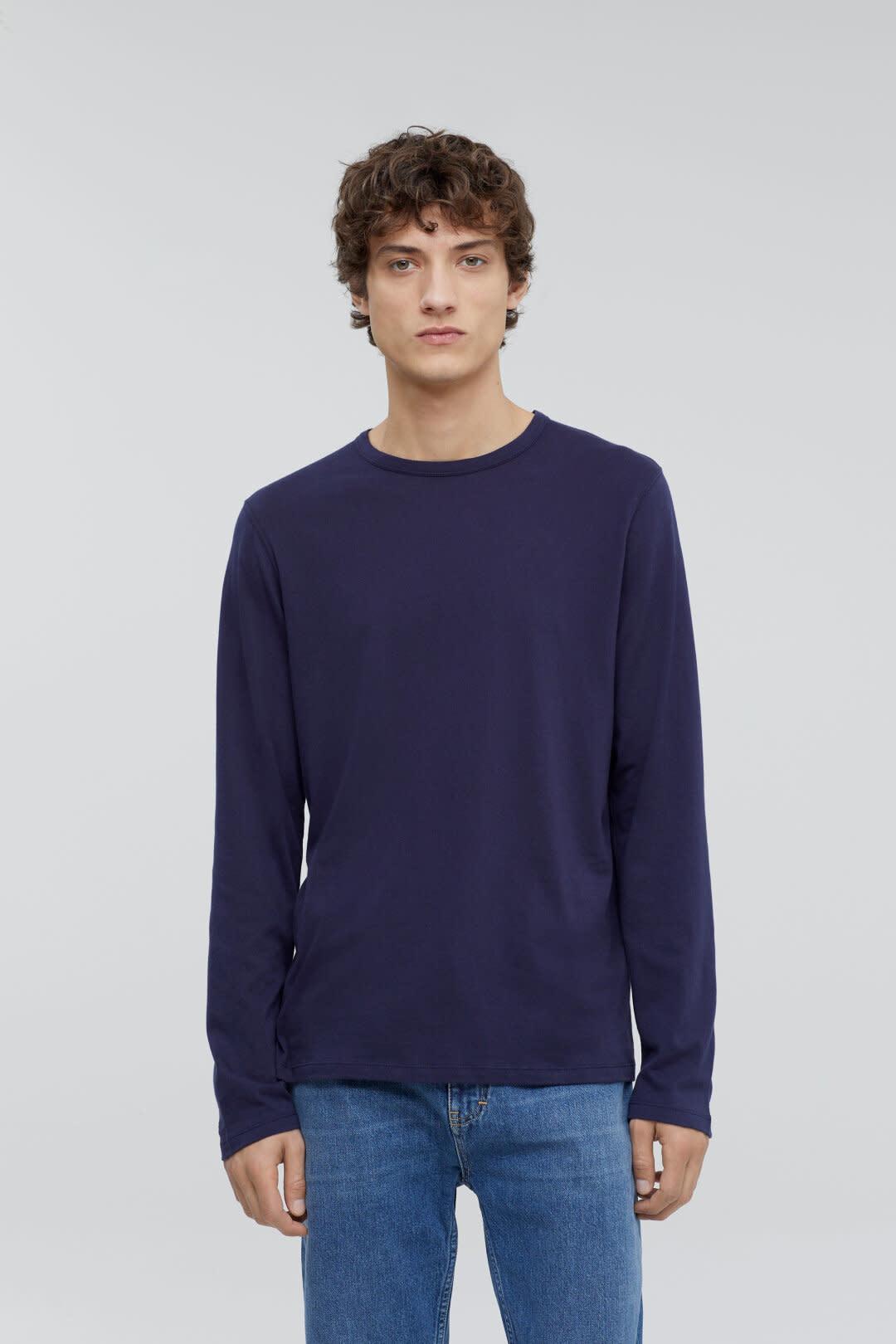 Cotton cashmere longsleeve dark night-3