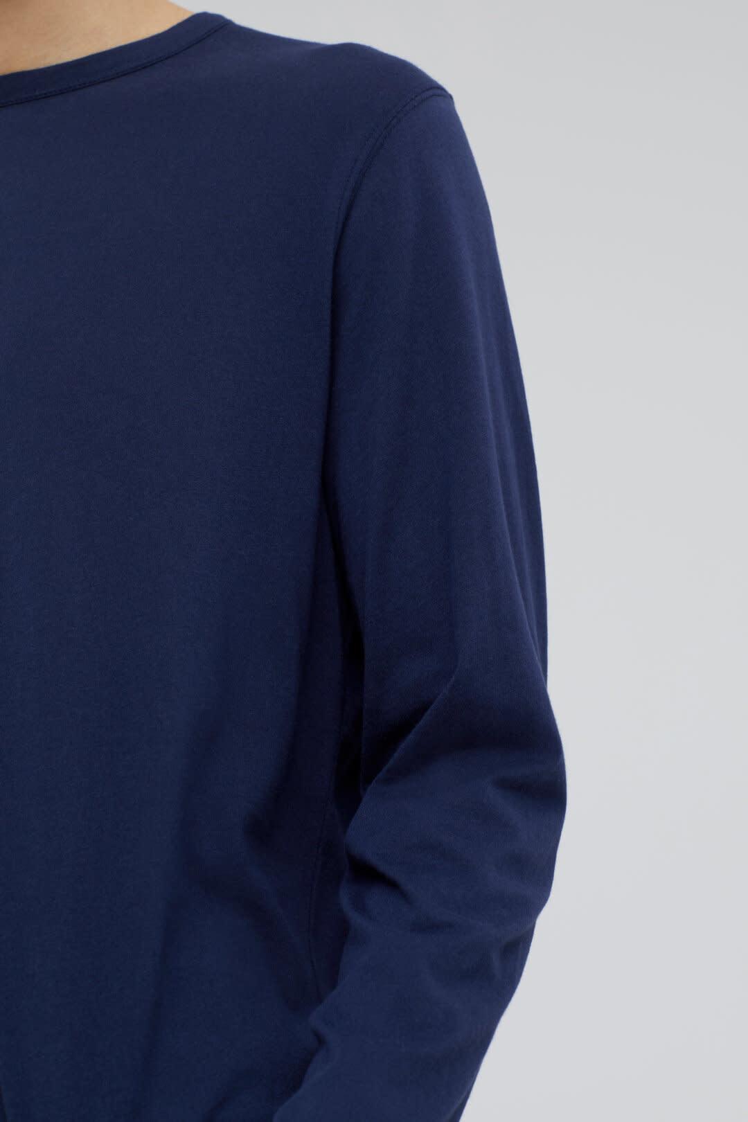 Cotton cashmere longsleeve dark night-4