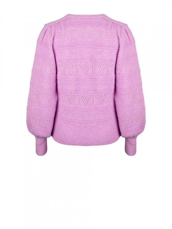 Valana ajour sweater pastel Pink-2